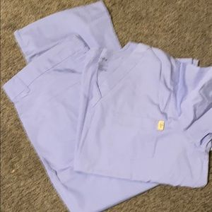 Light blue tafford scrubs